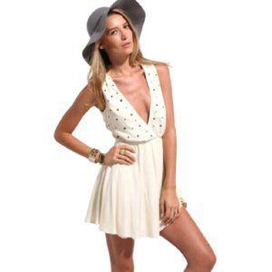 NWT For Love & Lemons studded criss-cross dress